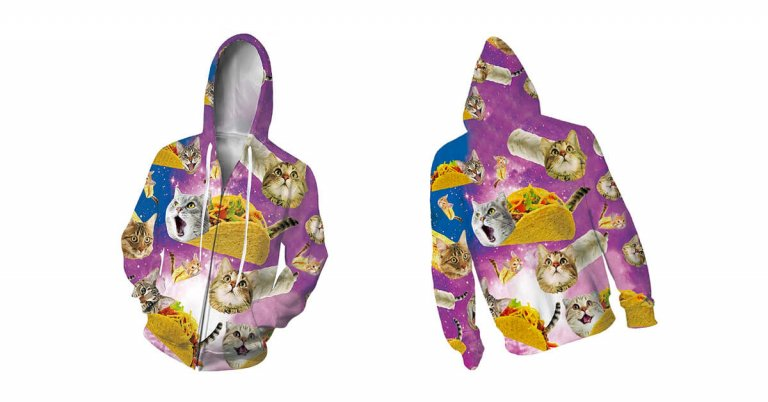 taco cat hooded sweatshirt