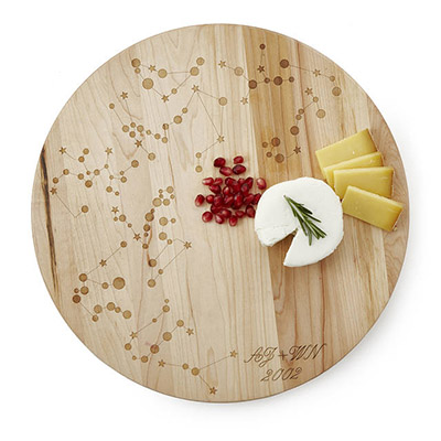 written in stars cheese board