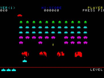 screenshot of space invaders video game