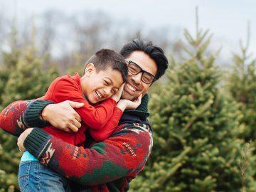 father and son christmas
